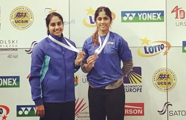 Sanjana Santosh/Sara Sunil settle for Bronze at the Polish IC