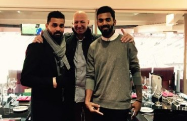 Injured openers Vijay and Rahul enjoy Manchester United vs Everton at Old Trafford