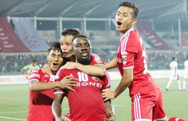I enjoy playing against big teams, says Lajong's golden goal-getter Aser Pierrick Dipanda