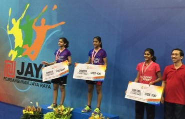 Double title victory for Gopichand's daughter Gayatri at Jaya Raya International Junior GP