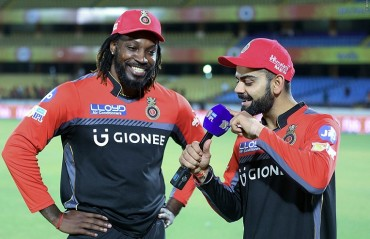 It is an absolute pleasure to open the innings with you: Kohli tells Gayle