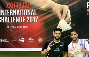 Top seeds Alwin/Kona take home the Peru International Challenge title; dedicates title to late Akhilesh Das Gupta