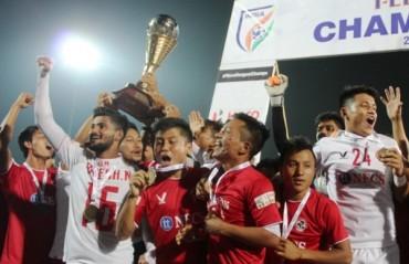 Champions: Aizawl FC lift historic I-League trophy, symbolizing the biggest conquest of Mizoram football