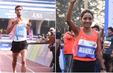 Monika Athare and M D Yunus lead the Indian Challenge at the TCS World 10K in Bengaluru