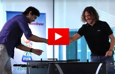 WATCH: Puyol takes part in Facebook AMA and also tries his hand at fussball
