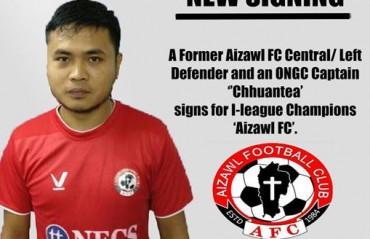 I-league champs Aizawl FC sign their former defender Chhuantea