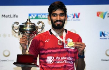 Srikanth crowned Australia SS champion, his second SS title in a row
