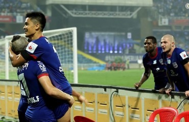 MATCH REPORT: Led by Chhetri's hat-trick, Mumbai run riot over NE to secure massive win