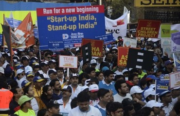 Runners unhappy with crowded lanes in Mumbai Marathon