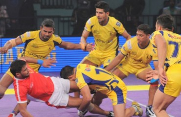Telugu Titans' winning streak ended by the Bengal Warriors who overcome them 17-25