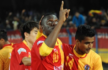 Ranti Martins scores a blazing hat-trick as East Bengal subject Lajong to a 4-0 revenge
