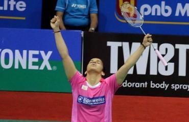 Saina Nehwal storms into the semi-final of Badminton Asia Championship