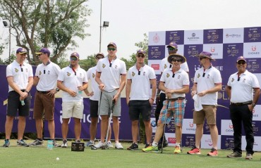An ensemble of KKR Players for a cause over a game of golf