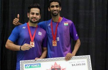Rio bound Attri/Reddy win their first title of the year & second GP at Canada