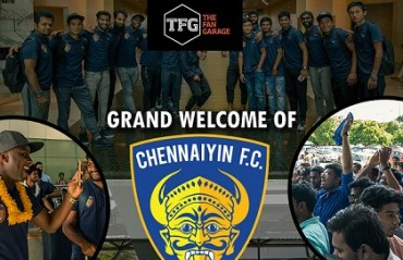 Champions Chennaiyin FC receive warm welcome on home return