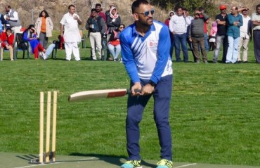 WATCH: Dhoni smashing some balls at the Madrid Cricket Club in Spain