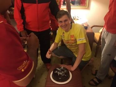 WATCH: Bengaluru Blasters celebrate Viktor Axelsen's birthday