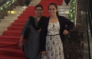 Behind a fit daughter there is a fit mom: Watch Saina's mother sweat it out in the gym