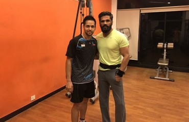 Parupalli Kashyap & Sunil Shetty complement each other for their fitness