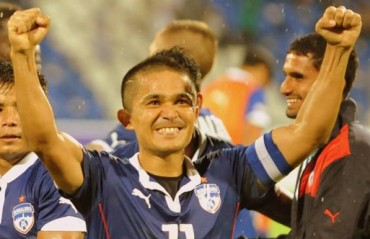 Sunil Chhetri becomes the leading Indian goal scorer in Indian league football history