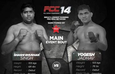 Indian MMA News: Yogesh Jadhav vs. Shashi Bhushan to headline FCC 14