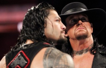WATCH: Slow motion footage of Undertaker – Roman Reigns confrontation