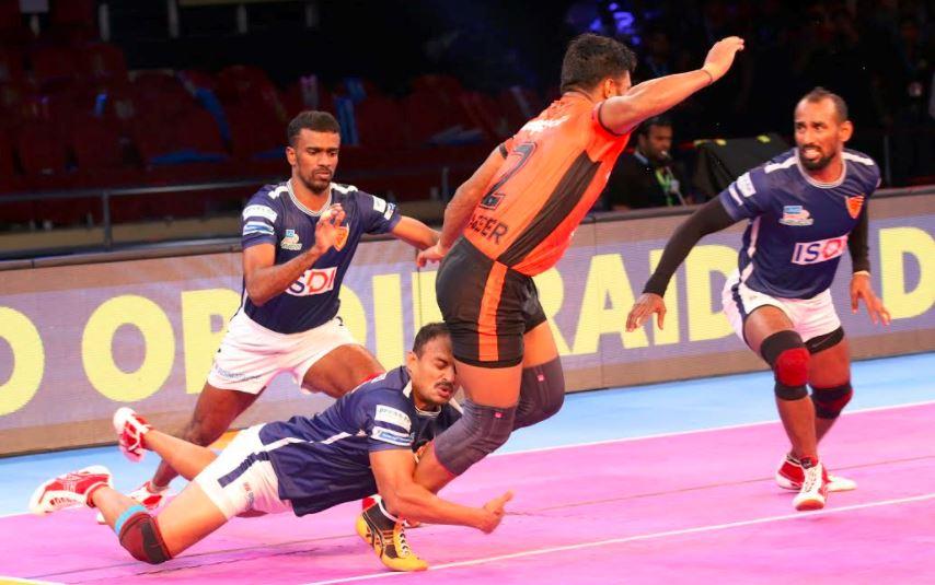 Image result for Pro Kabaddi League: Dabang Delhi's Fourth Consecutive Victory, Defeated U Mumba