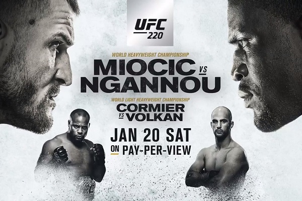Read on for UFC 220 co-main event results…