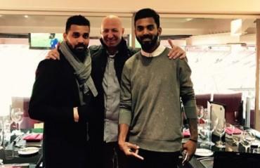 Injured openers Vijay and Rahul enjoy Manchester United vs Everton at Old Trafford
