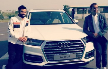 Kohli thanks Audi for adding one more stylish SUV to his garage