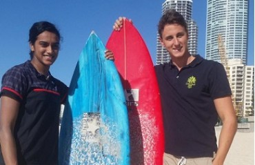 From sandboarding in Dubai to surfing in Australia, Sindhu surely knows how to have fun