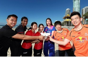 Shuttlers beat the heat with a scoop of ice-cream at the Surfers Paradise in Gold Coast