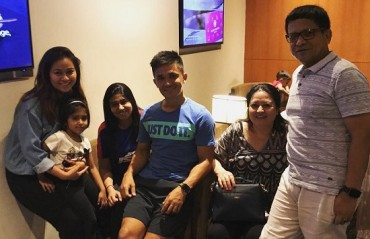 Vacation Time: Chhetri takes off with his family on a much needed break