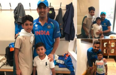 WATCH: Azhar Ali thanks Yuvraj, Kohli and Dhoni for spending time with his kids