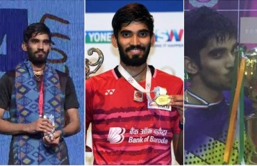 Best of Srikanth from the past one year: 2 SS , 1 GPG & an Olympic QF berth