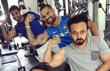 GABBAR GYMNASIUM: Dhawan and mates train hard ahead of the 3rd ODI
