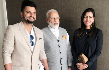 Raina's PM Darshan: Suresh Raina meets PM Modi in Netherlands