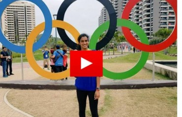 WATCH: PV Sindhu shares a message to all Indian Football fans