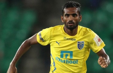 CK Vineeth has been retained by ISL franchise Kerala Blasters FC