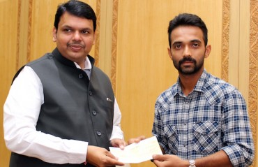 Rahane shows his softer side: donates Rs. 5 lakhs for drought-affected areas