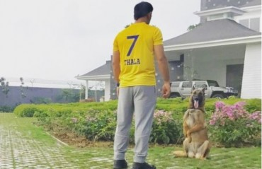 MS THALA: Dhoni dons yellow jersey to show his love for CSK and its fans