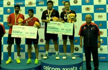 Mixed doubles duo of Nandagopal /Mahima ended as runners-up at Malaysia IS