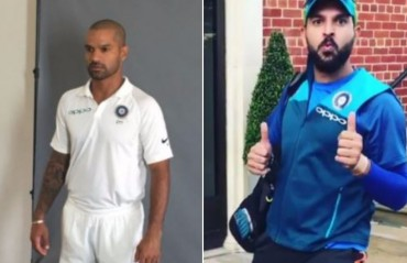 READ: Yuvraj pulls Dhawan's leg following India's Test photo shoot