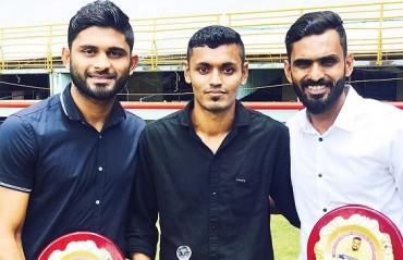Vineeth & Anas felicitated by Kerala Football Association