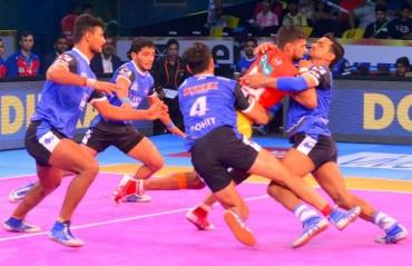 Pro Kabaddi: Gujarat FortuneGiants Vs Haryana Steelers ends in a 27-27 nail-biting tie