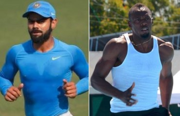 WATCH: Kohli sends good wishes to Usain Bolt for his final competitive race