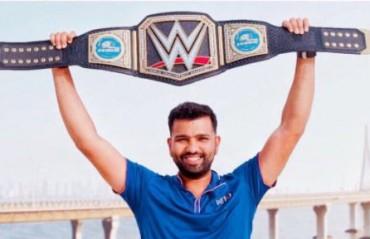 WATCH: Rohit Sharma's champion response to his teammates for posing alongside Great Khali