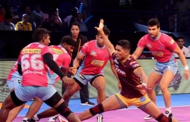 Pro Kabaddi: Manjeet-less Jaipur Pink Panthers beat UP Yoddha 24-22
