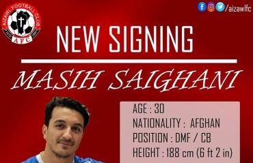 I-League 2017: Afghan defender Masi Saighani joins champions Aizawl FC