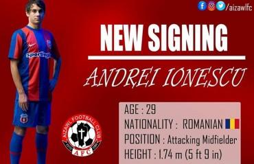 I-League 2017: Aizawl FC sign Romanian midfielder Andrei Ionescu